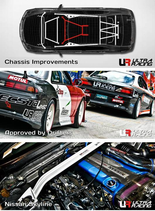 Ultra racing refuerzos de chasis